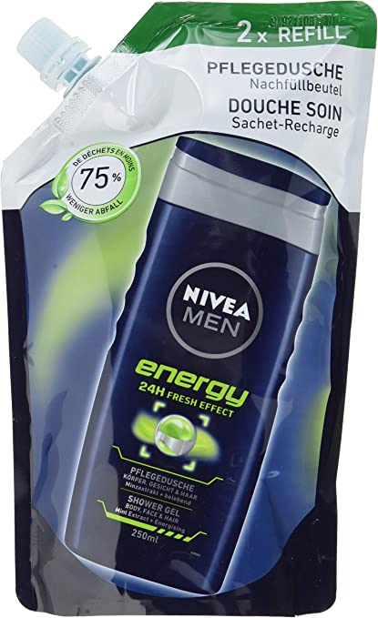 Nivea men - Energy, cuidado de ducha, pack de 6 (6 x 500 ml ...