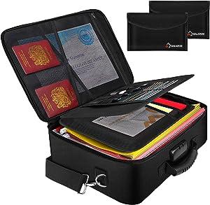 Fireproof Document Bag Document Safe Organizer (17.2