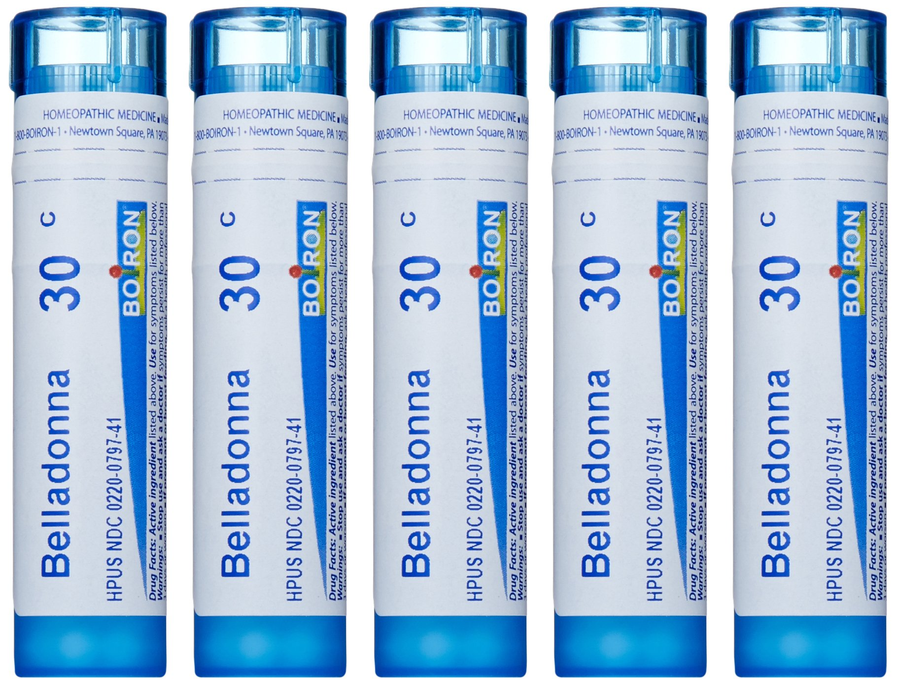 Boiron Belladonna 30C (Pack of 5), Homeopathic Medicine for Fever