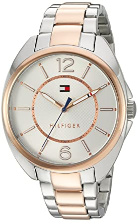 Tommy Hilfiger Womens Quartz Stainless Steel Watch, Color:Two Tone (Model: 1781696