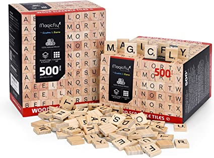 TEN A to Z in Stock! 10 Black  Scrabble Tiles Letters Letter D Individual