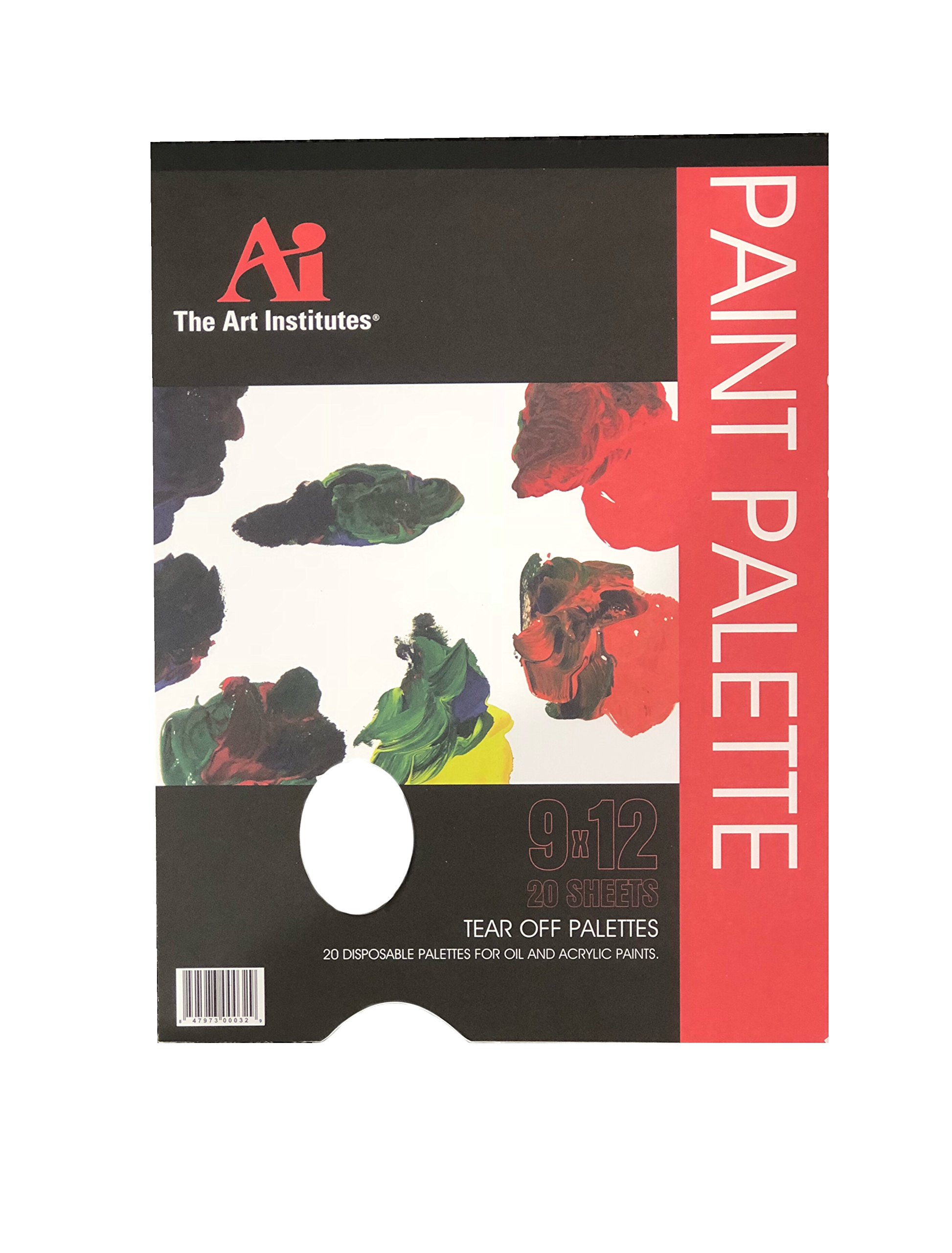 The Art Institute 24 Disposable Paint Pallet Pads - 480 Sheets