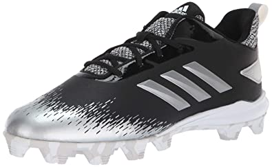 best service f83e7 819b3 adidas Mens Adizero Afterburner V Baseball Shoe, BlackSilver Metallic White, 4