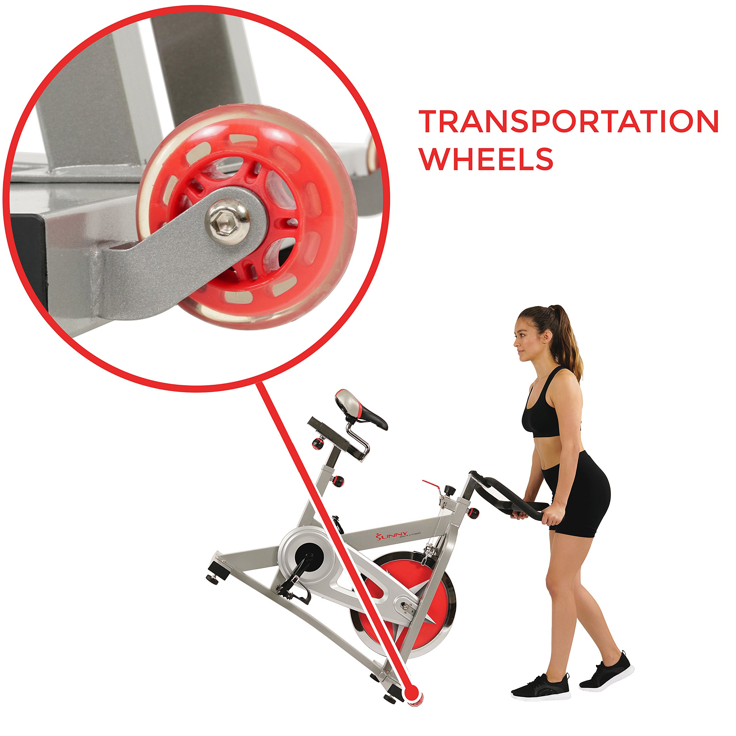Sunny Health & Fitness Pro Indoor Cycling Bike by Sunny Health & Fitness (Image #10)