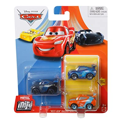 Disney Cars Diecast Metal Mini Racers Next-Gen Racers Series 3-Pack Jackson Storm, Ryan Inside Laney, Ralph Carlow: Toys & Games