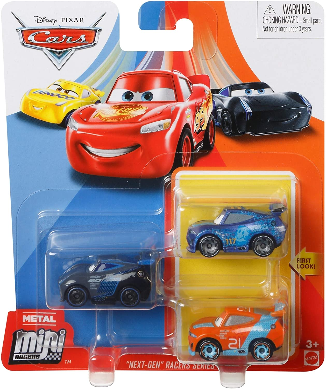Disney Pixar Cars - Mini Racers 3 Pack - Jackson Storm, Ryan Inside Laney and Ralph Carlow: Amazon.es: Juguetes y juegos
