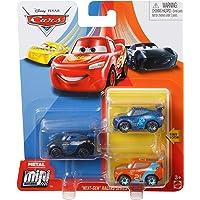 Disney Cars Diecast Metal Mini Racers Next-Gen Racers Series 3-Pack Jackson Storm, Ryan Inside Laney, Ralph Carlow