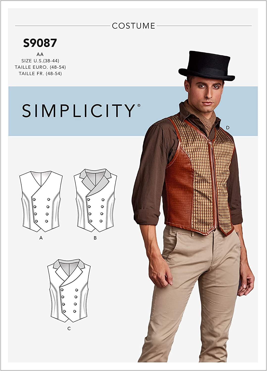 Simplicity Creative Patterns US8408AA Sewing Pattern Costumes 38//40//42//44