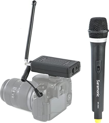 Saramonic - Sistema de micrófono portátil inalámbrico VHF para ...