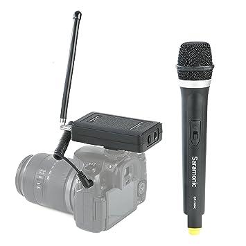 Saramonic profesional VHF inalámbrico portátil Sistema de micrófono de mano para DSLR Cámara/Videocámara de