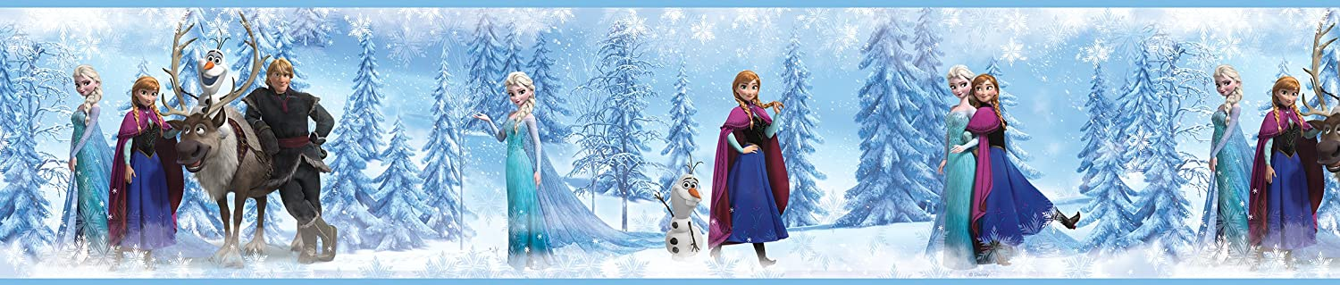 RoomMates Disney's Frozen Peel and Stick Border, Multi-Colour RMK2734BCS