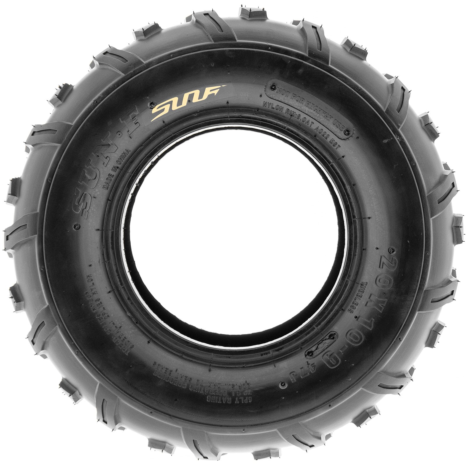 SunF Rear ATV Knobby Tires 20x10-9 20x10x9 4 PR A022 (Set pair of 2) by SunF (Image #4)