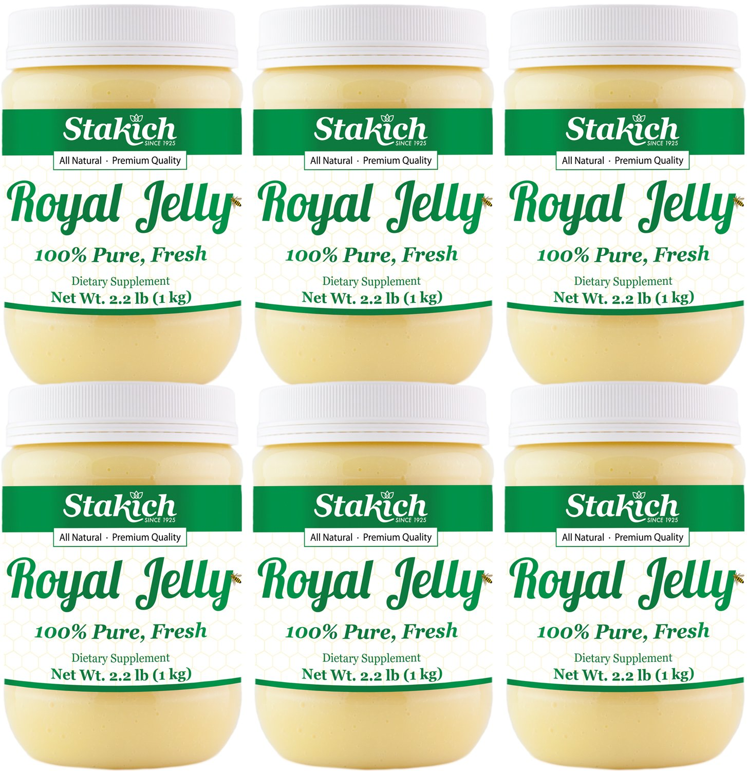 Stakich FRESH ROYAL JELLY - 100% Pure, All Natural, Highest Quality - No Additives/Flavors/Preservatives Added - 6 KG