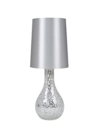 Exceptional Amazon.com: Urban Shop Mosaic Glass Lamp With Satin Shade, Silver: Toys U0026  Games