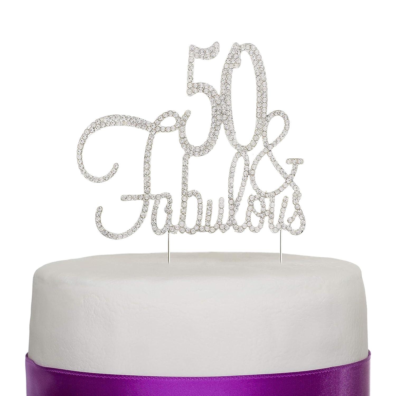 Amazon.com: 50 y fabulosa decoración para tarta para 50 ...