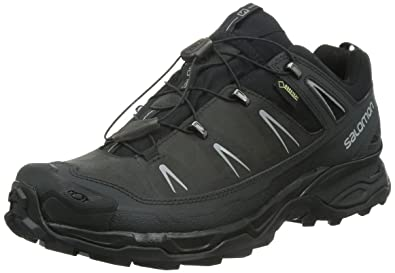 Salomon Men's X Ultra LTR GTX Hiking Shoe, Asphalt/Black/Pewter, 10.5