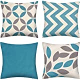 pendali Throw Pillow Covers, Modern Geometry Cushion Pillowcases, Decorative Outdoor Polyester Fabric Pillow Case for Living