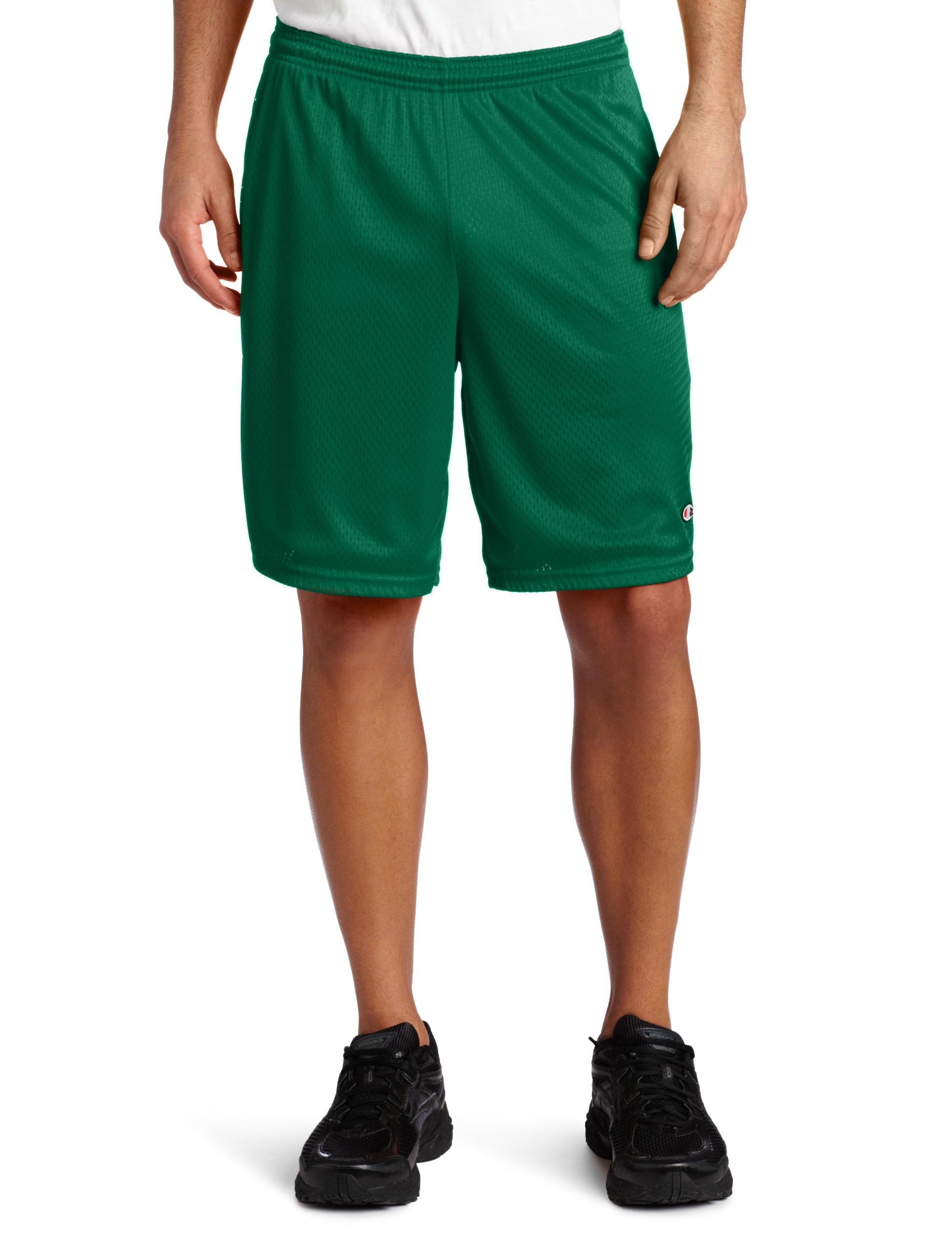 Champion Men's Long Mesh Short With Pockets, Varsity Green, Large by Champion