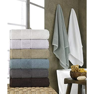 Kassatex Turkish Hammam Collection Towels, Bath Sheet - White