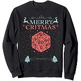 Merry Critmas 20 Sided Dice RPG Christmas Holiday Board Game Sweatshirt
