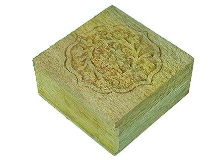 greca Caja de Madera Tallada. En Crudo para Decorar. Manualidades y decoración.