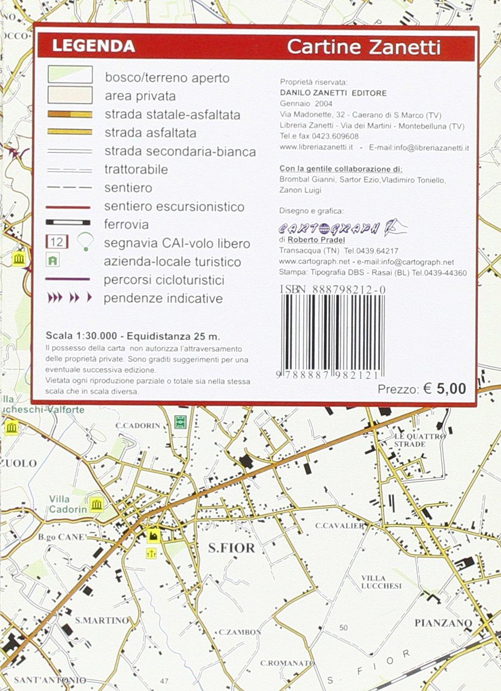Conegliano, S. Lucia di Piave, S. Polo di Piave, Codognè 1:30.000 ...