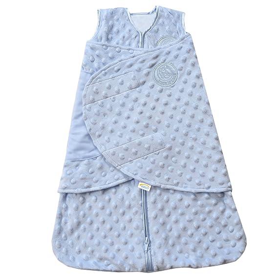 HALO SleepSack Plush Dot Velboa Swaddle, azul, Newborn ...