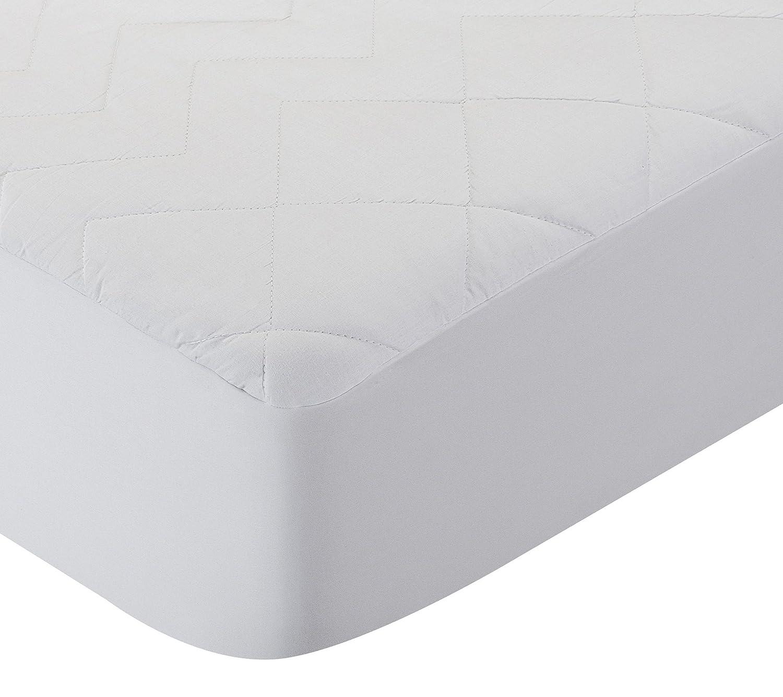 Pikolin Home - Protector de colchón acolchado cubre colchón de fibra antiácaros, transpirable, 105 x 190/200 cm, cama 105 (Todas las medidas): Amazon.es: ...