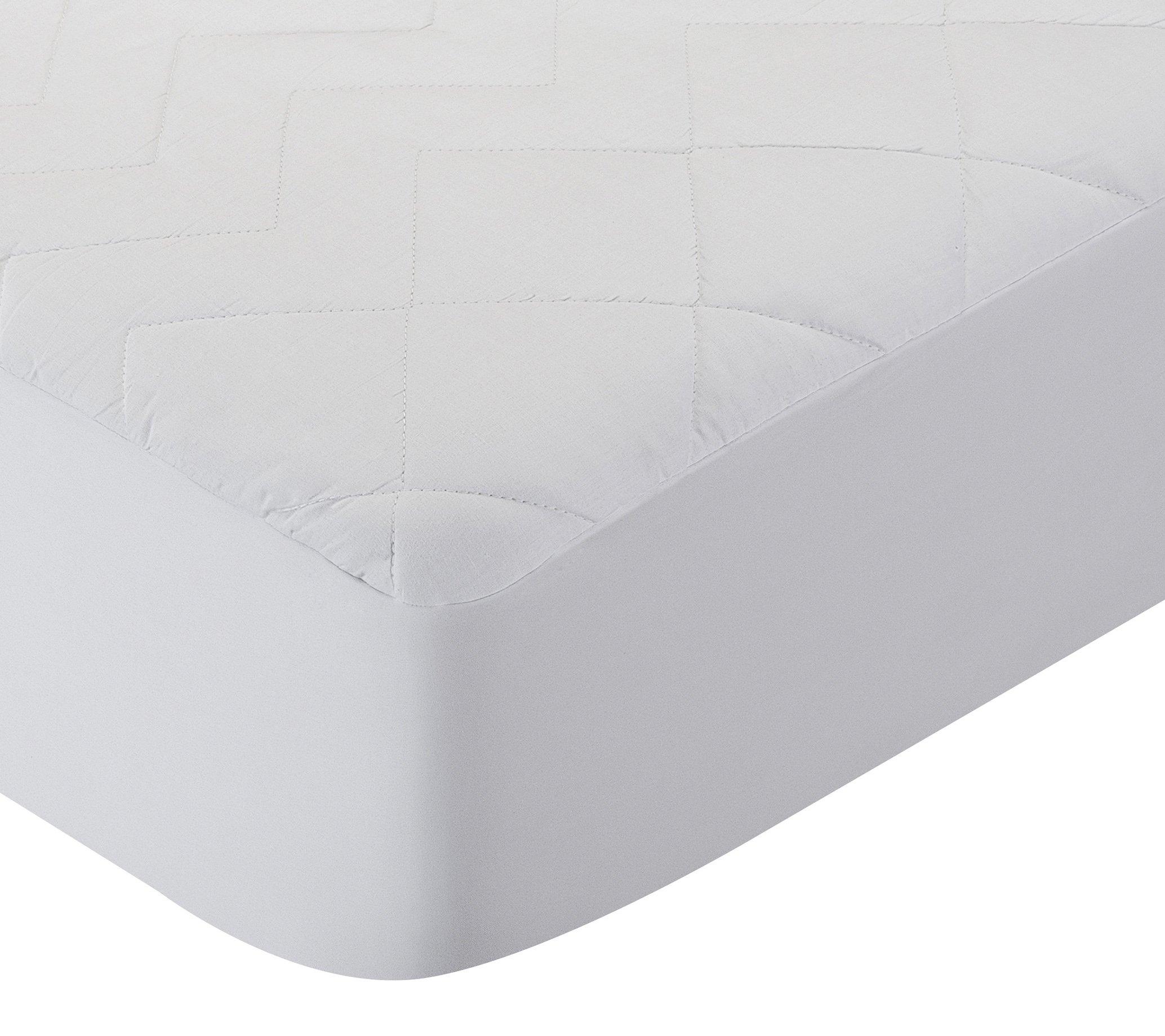 Pikolin Home - Protector de colchón acolchado cubre colchón de fibra antiácaros, transpirable, 105