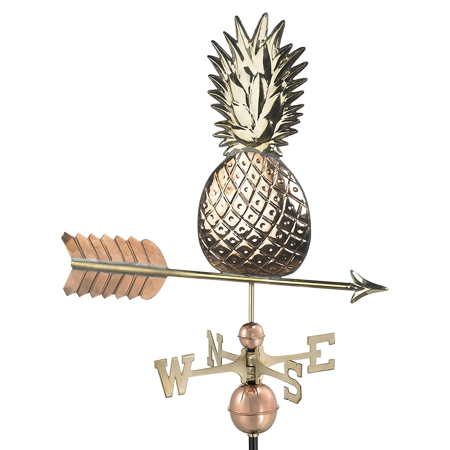 Pure Copper Good Directions Pineapple Weathervane