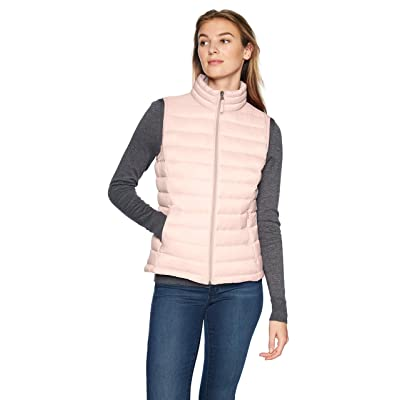 Essentials Women's Lightweight Water-Resistant Packable Puffer Vest: Clothing