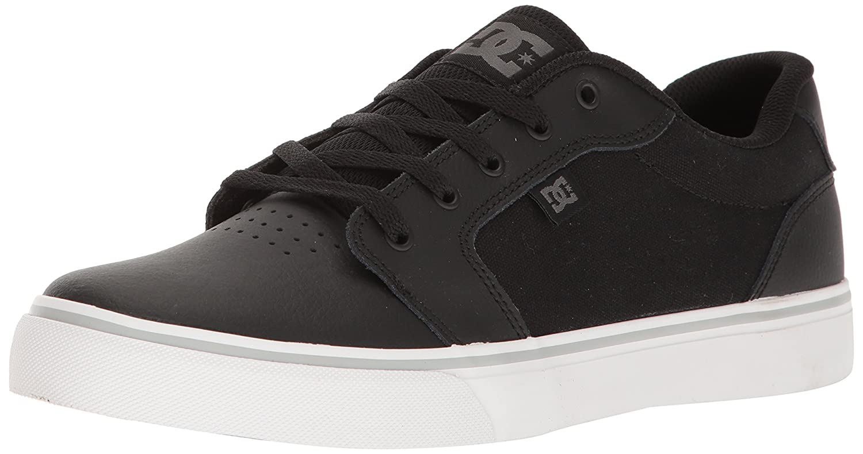 DC Men's Anvil SE Skateboarding Shoe 11.5 D(M) US|Black/White/Silver
