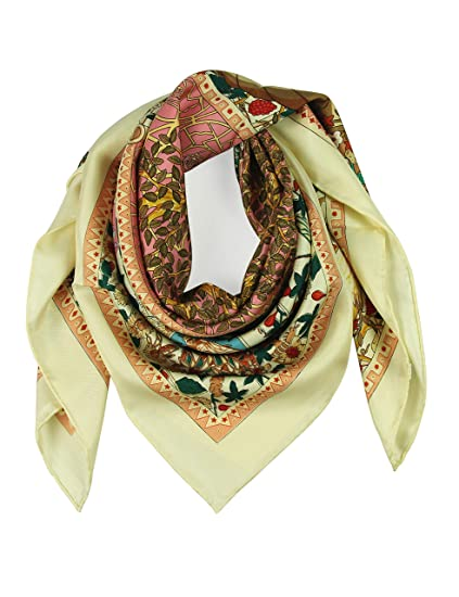 71772d47f60 Silk Scarf Square Scarf for Hair Women-Pantonight 100% Pure Silk 14MM Hand  Rolling Edge Silk Twill Scarf for Women
