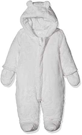 628c9c5b0ae2 Absorba Baby Coverall Snowsuit, Light Grey, 3-6 (Size:3 Months