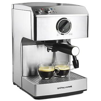 Andrew James Barista – Cafetera con bomba de 15 bar – Para expressos, lattes, macchiatos y capuchinos profesionales en casa: Amazon.es: Hogar