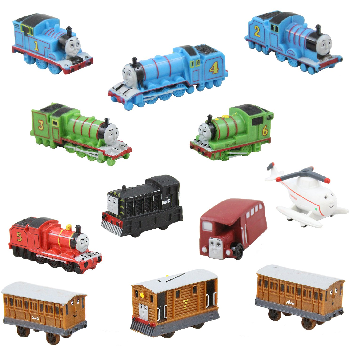 Prefilled Easter Eggs Save Your Time Durable 6 Inch Egg in Bright Colorful Designs 1 Jumbo Toy Filled Easter Egg With 12 Thomas The Train Figures Perfect As Cake Toppers And Kids Party Favors Coolinko