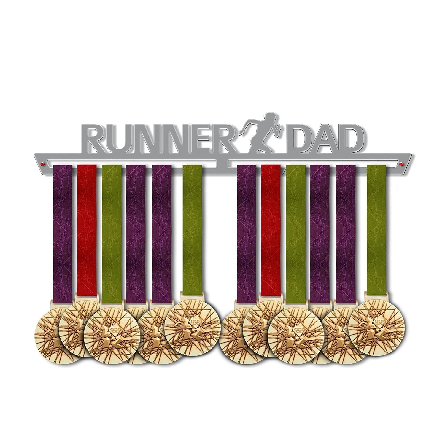 Victory Hangers Dad 's Medals – ランナーDadメダルハンガー – Runningメダルホルダーfor Dads – Running Dad Gift Idea – Heroes Dads Running Medal表示 B07FCQVVH7