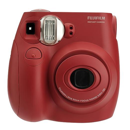 红的好正!Fujifilm Instax Mini富士迷你拍立得相机今日特价$39.99