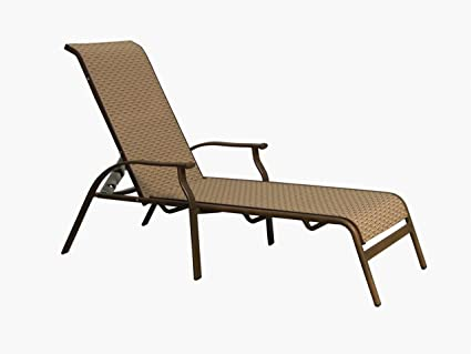 Panama jack island breeze stackable sling chaise lounge espresso finish