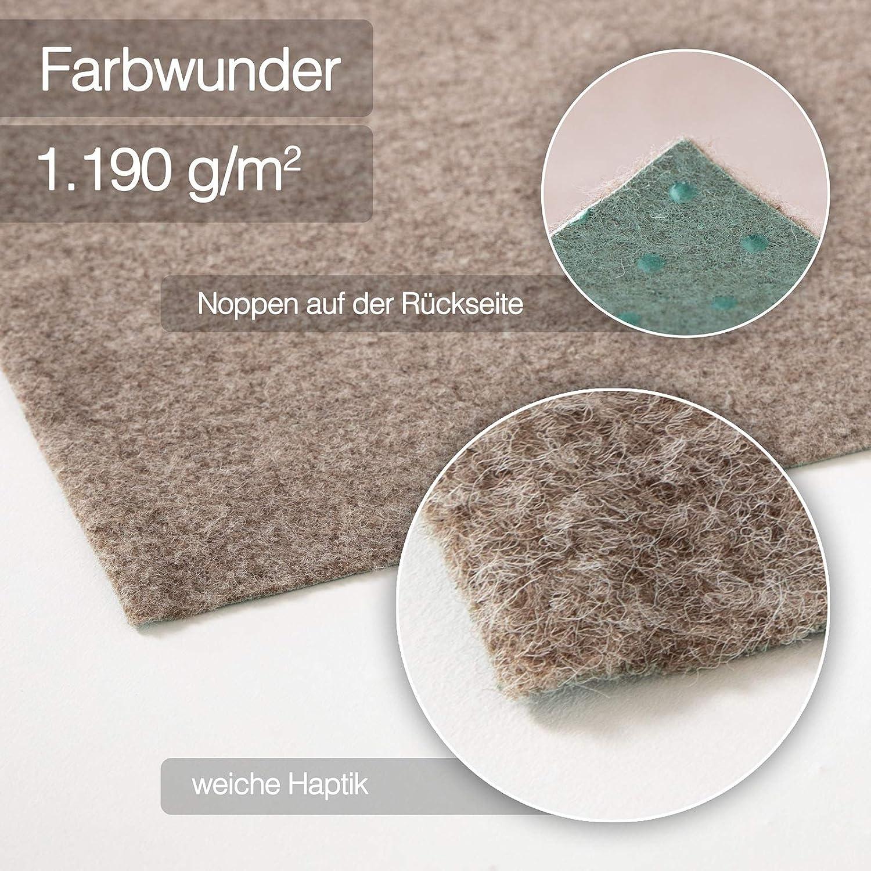 Rasenteppich Farbwunder Pro Kunstrasenteppich f/ür Terrasse Erh/ältlich in 7 Farben Balkon und Freizeit Balkonteppich 200 x 150 cm, Schwarz