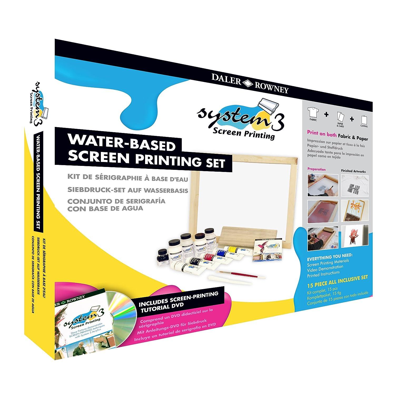 Daler Rowney Sistema 3 - acqua basato su schermo stampa Set
