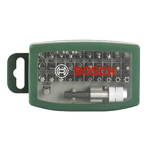 Bosch Boîtier d'embouts de vissage courts avec code couleur 31 pièces et 1 porte-embout 2607017063