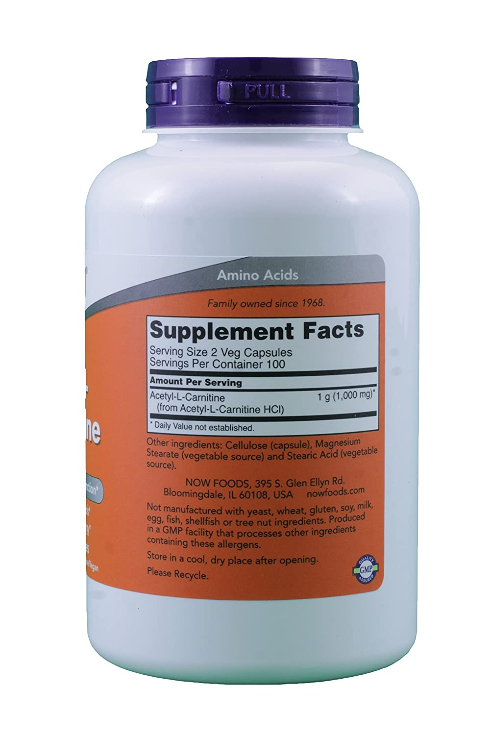 Now Foods Acetyl L Carnitine 500 Image 2