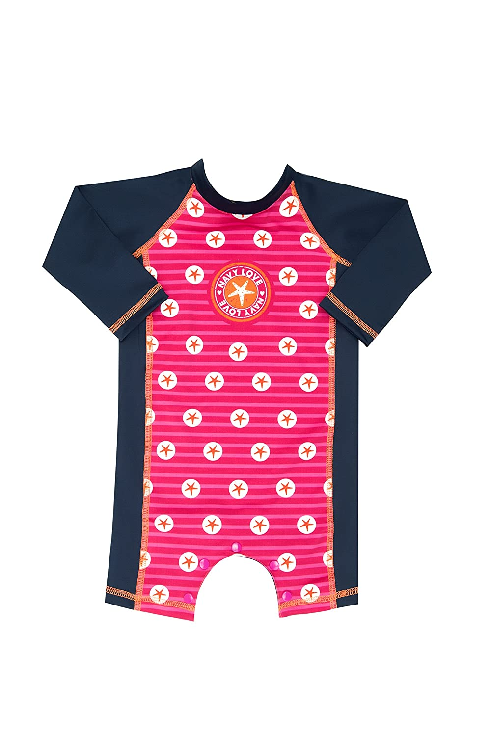 Color Fingers Sunsuit//Swimsuit with Snap Buttons