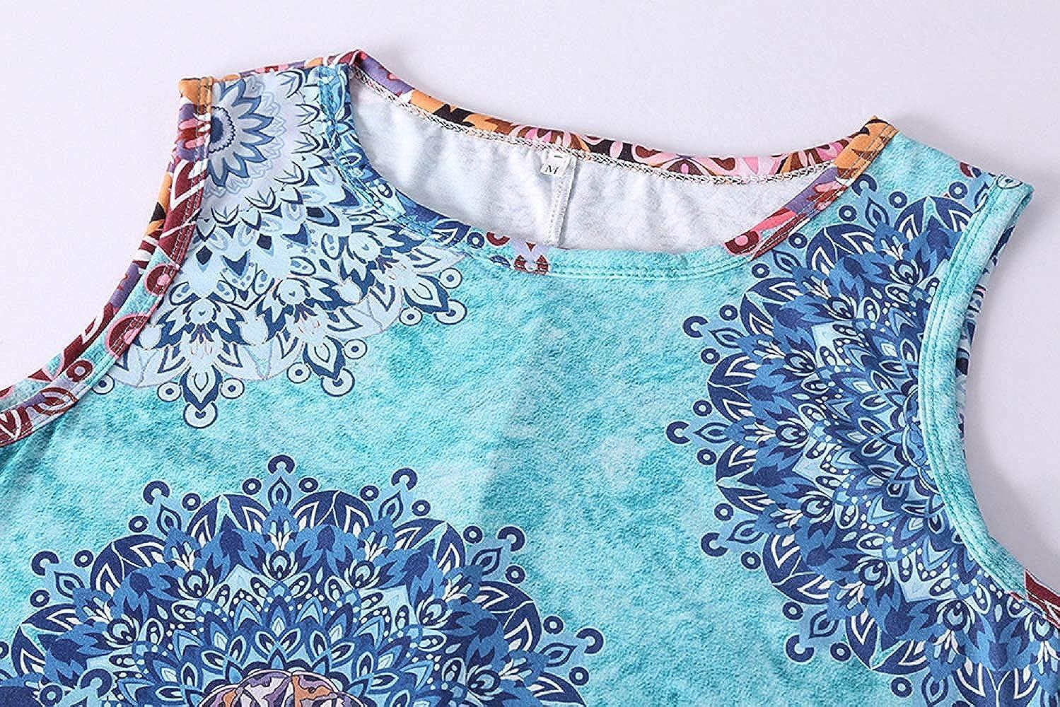 Vestito Senza Maniche Donna Abiti Estivo Corto Casual Abito Copricostume Mare Vestiti Taglie Forti da Spiaggia Cocktail Cerimonia Partito Spiaggia