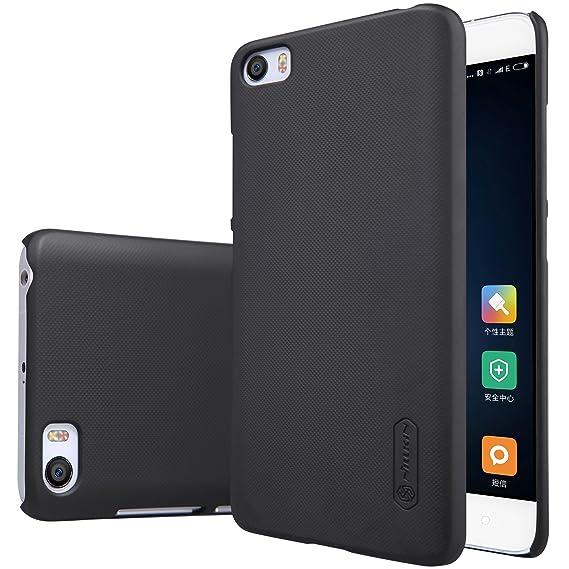 Bester de alta calidad de la piel de Shell duro Volver Funda para el Xiaomi Mi5 teléfono inteligente + 1 paquete de protector de pantalla (negro): Amazon.es: Electrónica