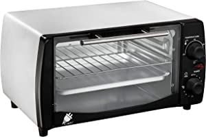 J-Jati Countertop oven, Convection oven, Countertop Toaster Oven Electric. Toast, Bake, and Broil. glass door, Thermostat in celcius, Non-stick tray, Indicator light, 800W, SK-12 (Silver)