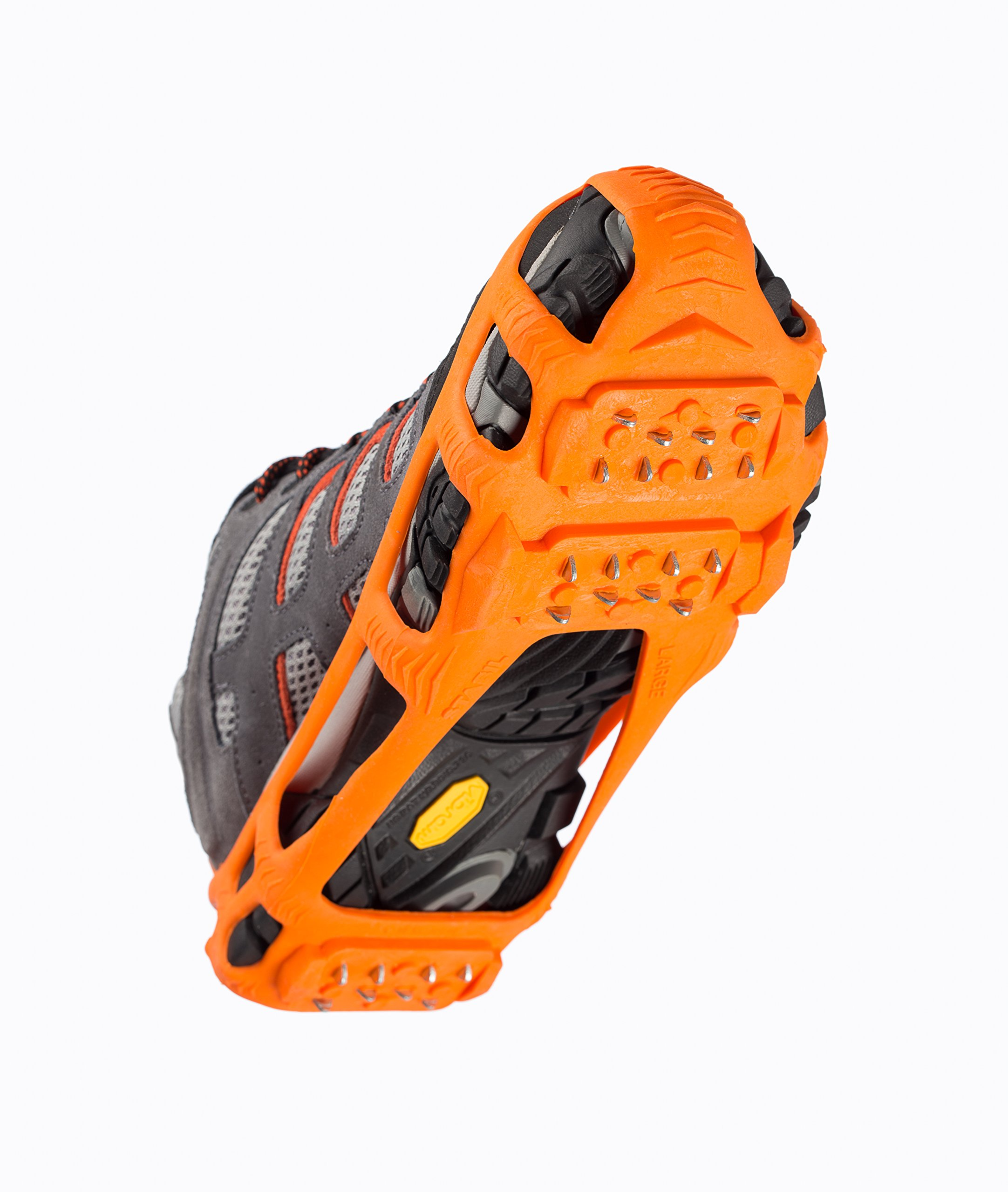 STABILicers Walk Traction Ice Cleat, Large (10.5-13 Men / 12+ Women), Orange