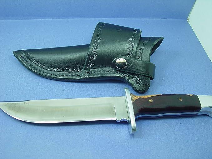 Amazon.com: Buck 124 Cruz Draw cuchillo vaina hecha de piel ...