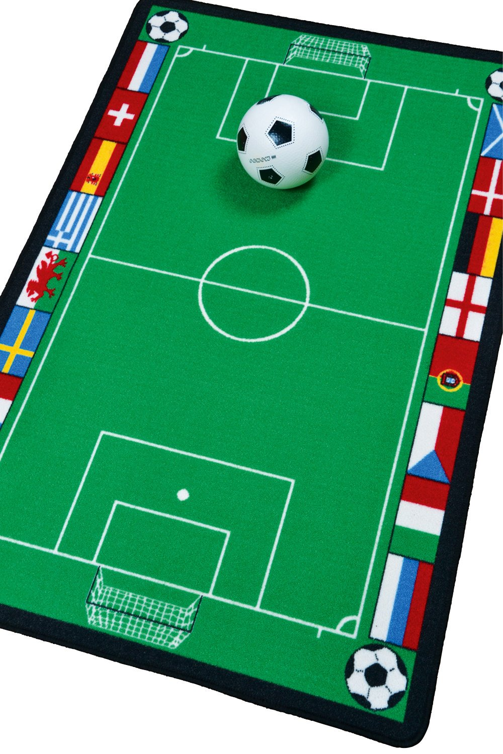 Childrens Bedroom Rugs Football Pitch Stadium Kids Mats 80x120cms FREE SHIPPING Vogue Rugs